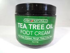 USA Naturals - Tea Tree Oil Foot Cream - 113g / 4oz [HB-U]
