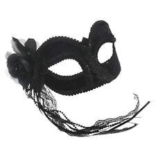 Bristol Novelty EM686 Velvet Eye Mask With Flower and Glasses Frame Womens Bla