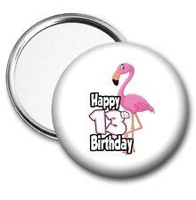 Pink Flamingo Pocket Mirror 13th Birthday Gift - Girls Daughter Teenager Friend
