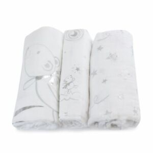 Bubba Blue Wish Upon A Star Muslin Swaddles 3 Pack