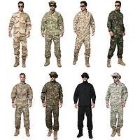 Men Tactical BDU Uniform Suit Shirt Pants Army Military Combat Jacket+Trousers