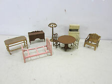 Vintage Lot of Tootsie Toy Metal Doll House Furniture