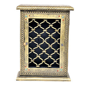 Decorative Cabinet Key Box Holder Premium Quality Wooden Vintage Look Wall Mount