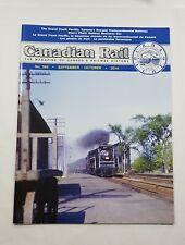 Canadian Rail Magazine Back Issue September October 2014 #562