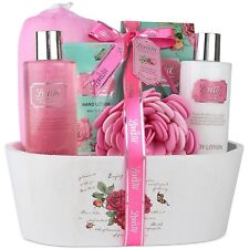 Spa Gift Basket, Spa Basket with English Rose Fragrance By Lovestee-Bath and .