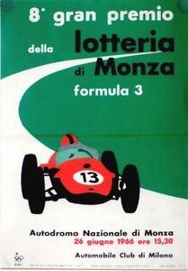 Original vintage poster MONZA AUTOMOBILE RACING LOTTERY 1966