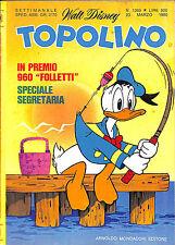 [525] TOPOLINO ed. Mondadori 1980 n.  1269 stato Edicola