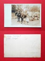 Foto AK UELZEN um 1914 Typen mit Pferdefuhrwerk   ( 37399