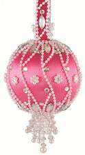 The Cracker Box Christmas Ornament Kit Moonlit Pearls  (Hot Pink Ball w/crystal)