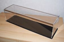 ACRYLIC  MODEL DISPLAY CASE 600 X 160 X 160  BLACK OR WHITE BASE