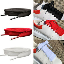 White Red Black Wide Flat Trainer replacement Shoelaces For Alexander McQueen