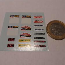 Ech 1:43 10.80 x 4.80 mm Metal 2 Plaques de Rallye
