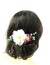 Ivory Cream Purple Gypsophila Wildflower Leaf Flower Hair Comb Bridesmaid 2251