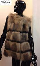 Gilet in PELLICCIA di marmotta marmot fur vest jacket pelz fourrure no fox volpe