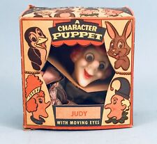 """VINTAGE,1950s  PETER PUPPET CHARACTER, """"JUDY""""  HAND PUPPET WITH BOX"""