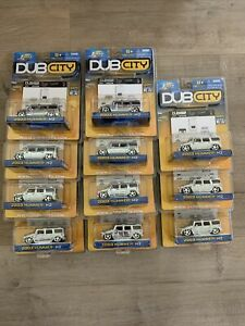 Lot Of 11  Jada Dubcity Chrome H2 Hummers