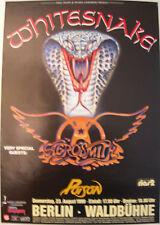 WHITESNAKE AEROSMITH POISON CONCERT TOUR POSTER 1990