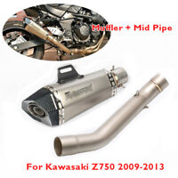 Z750 Motorcycle Exhaust Muffler System Mid Link Tube for Kawasaki Z750 2007-2013