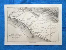 Gravure Année 1862 - Traversée de l'Amerique du Sud-Attraversamento America Sud