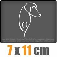 Hund 7 x 11 cm JDM Decal Sticker Auto Car Weiß Scheibenaufkleber