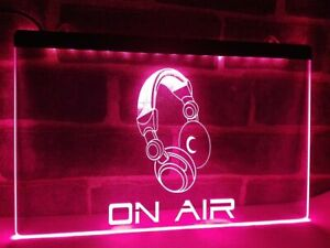 On Air Headphone Headset Studio Radio  LED Neon Light Sign Home Decor