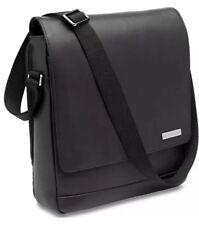 Hartmann Black Leather Business Case Vertical Messenger Cross body NWT $360!