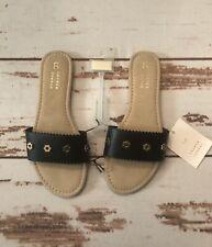 NWT LC Lauren Conrad Black Sandals with Studs Size Medium (7/8)