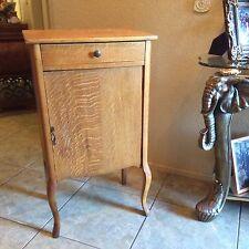 Vintage Tiger Oak Record Sheet Music Cabinet Door Latch Drawer & 4 Shelve's