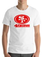 SAN FRANCISCO 49ERS WHITE T-Shirt Graphic Cotton Adult Logo  S-2XL