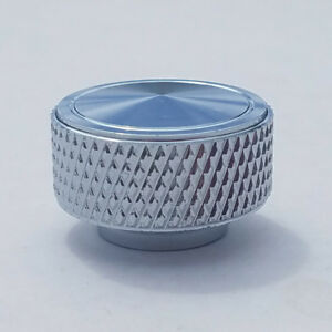 """Chrome Knurled Round Air Cleaner WING NUT 1/4"""" -20 Thread CHEVY FORD 350 454 383"""