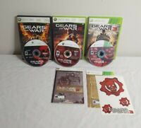 (Xbox 360) Gears of War 1 2 3 Trilogy Video Game Lot - 8/10 Condition
