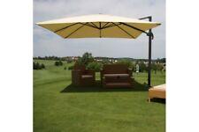 Luxus Sonnenschirm Marktschirm creme 3x4m Ampelschirm Gartenschirm Gastronomie
