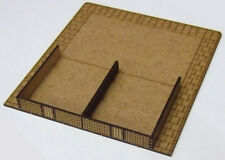 15mm WW2-Double Terrace Base MDF Kit , FOW Flames of War