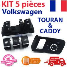 Kit 5 Pièces Bouton lève-vitre Volkswagen Touran Caddy - 5ND959857, 1T1959565F