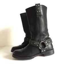 Frye Studded Harness Women Riding Boots Size 7 B