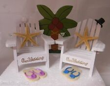 Wedding Reception Real Starfish Adirondack Martini Cake Topper Beach Chairs