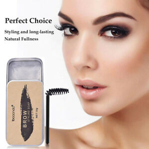 Eyebrow Shaping Soap Styling Gel Wax with Brush Long Lasting Eye Brow Makeup 20g