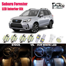 9x White LED Lights Interior Package Kit for 2003 - 2019 2020 Subaru Forester