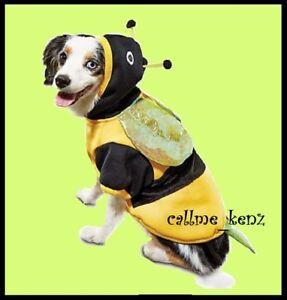 Petco Bootique XXS Dog/Cat Halloween Costume Bumble Bee Hoodie Coat EXTRA Small
