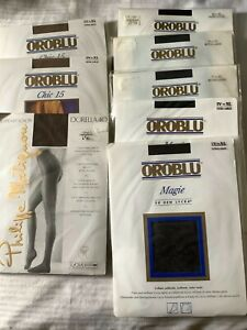 7 PAIR OROBLU + 1 PHILIPPE MATIGNON LADIES TIGHTS SIZE XL