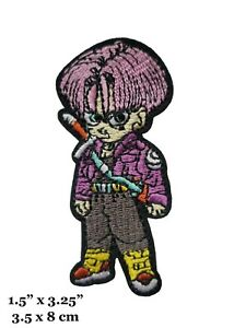 Dragon Ball Z Series Trunks Character Figure Embroidered Iron On Patch