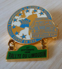 PIN'S RALLYE DU LIMOUSIN TEAM DIAC MICHELIN RENAULT CLIO WILLIAMS FRANCE 1996