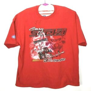 Matco Tools Racing Gary Scelzi Signed 2XL Red T-shirt Autograph