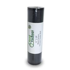 "11""x50' FoodVacBags Black & Clear Vacuum Sealer Roll FoodSaver compatible 4mil"