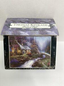 "THOMAS KINKADE Miniature Jigsaw Puzzle Twilight Cottage 100 Pcs 9""x 7"" 1998 NIB"