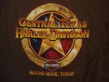 Harley-Davidson Motorcycles Round Rock Texas Brown Front Pocket T Shirt L