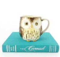 Vintage Coffee Mug Hand Crafted OTAGIRI Japan Owl Figure Collectible