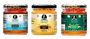 Pure Honey - multifloral & raw creamed, eucalyptus - 3 x 250g   FREE SHIPPING