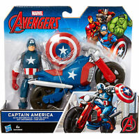 Marvel Avengers CAPTAIN AMERICA, With Motor Cycle, Boxed