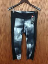 Under Armour Heatgear Womens Black Camo  Sports Yoga Capri Pants sz LG 80A7